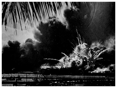 Almanack Feature: The Day of Infamy » U.S.S. Shaw's Magazine Explodes