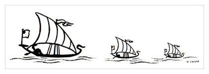 Almanack: Mother Goose Migrates to America / Sailing Ships