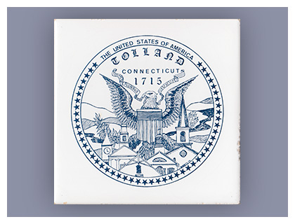 Almanack: Early History of Tolland, Connecticut - Commemorative Trivet